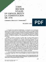 Los Derechos Fundamentales y su protección en la Constitución.