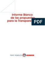 Informe Blanco Con Propuestas Para La Transparencia