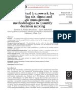 A Conceptual Framework for Integrating Six-sigma and Strategic Man