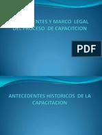 4 Antecedentes y Marco Legal Del Proceso de Capacitcion