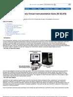 NI Educational Laboratory Virtual Instrumentation Suite (NI 20ELVIS)