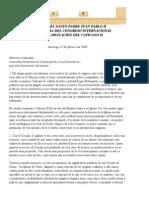 Congreso aplicación Vaticano II 27-febrero-2000