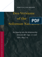 Keulen - Two Versions of the Solomon Narrative; an Inquiry into the Relationship between MT 1 Kgs. 2–11 and LXX 3 Reg. 2–11 (2005)
