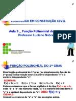 Prof. Luciano Nóbrega - aula Função 1º grau