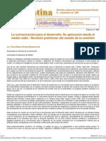 Arráez Betancort, Rosa María (1998)_ La comunicación para el desarrollo. Su aplicación desde el medio radio _ Revisión preliminar del estado de la cuestión. Revista Latina de Comunicación Social, 9..pdf