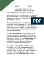 Narrative Structure 8 June