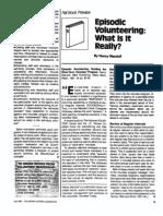 Episodic Volunteering