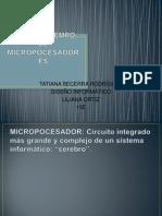 LÍNEA DE TIEMPO DE MICROPOCESADORES