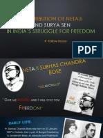 contribution of netaji and surya sen