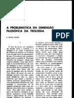 b. Puntel. a Problematica Da Dimensao Filosofica Da Teologia