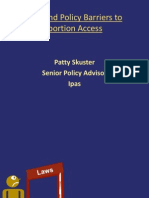 Barriers in Abortion Laws and Policies