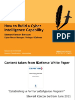 How to Build a Cyberintelligence Capability