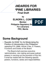 standards for philippine school libraries The primary school library guidelines the guidelines  standards for school library resource services in scotland: a framework for developing services, convention of scottish local authorities (cosla) 1999 and taking a closer look at the school library resource centre: self evaluation using.