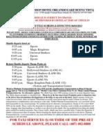 Disney World Shuttle Schedule - Radissoon Lake Buena Vista Hotel