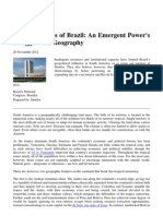 121120_The Geopolitics of Brazil-An Emergent Power's Struggle With Geography_ISN