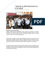 06/08/13 nss Brinda SSO más de 12 mil atenciones en VIII Feria de la Salud