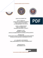 Joint Statement FAA Reauthorization Hearing - December 2011