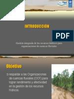 0 Introduction 1. Gestión integrada para cuencas