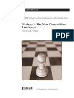 Prahalad, C. K - Strategy in the New Competitive Landscape - Participant Material - The Linkage Excellence in Management & Leadership Series