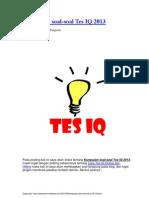 Kumpulan Soal Test IQ