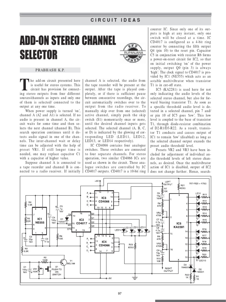 Efy 1999 Electronic Circuits Switch Multivibrator Circuit Drives A Pair Of 2n3055 Power Transistors
