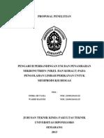 Pengaruh perbandingan F/M dan Mikronutrien pada pengolahan limbah perikanan untuk memproduksi biogas
