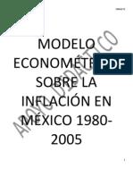 84166345 Modelo Econometrico Economia Mexicana Inflacion