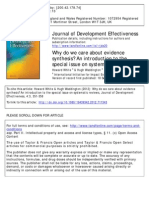 h White and Ha Waddington, Journal Development Efectivesness