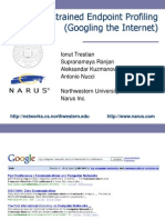 Unconstrained Endpoint Profiling (Googling the Internet) powerpoint narus