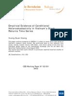 Hoang, V.Q, 2002, Empirical Evidence of Conditional Heteroscedasticity in Vietnam's SM