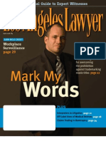 "Trademarking Movie Titles - ""Mark My Words,"" LA Lawyer Titles Article April 2008"