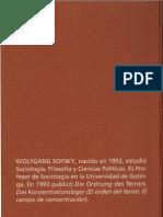Tratado Sobre La Violencia, Sofsky