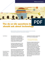 McKinsey - Do-Or-die Questions About Technology