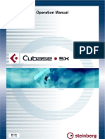 Cubase SX Operation Manual PDF