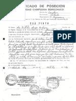 Certificado Posesion Familia Chaupe