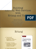 Building RESTful Web Services with Erlang and Yaws