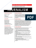 Syllabus for Fall 2013 CM135 Journalism