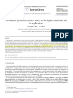 Differential Quadrature Method Based on the Highest Derivative and Its Applications