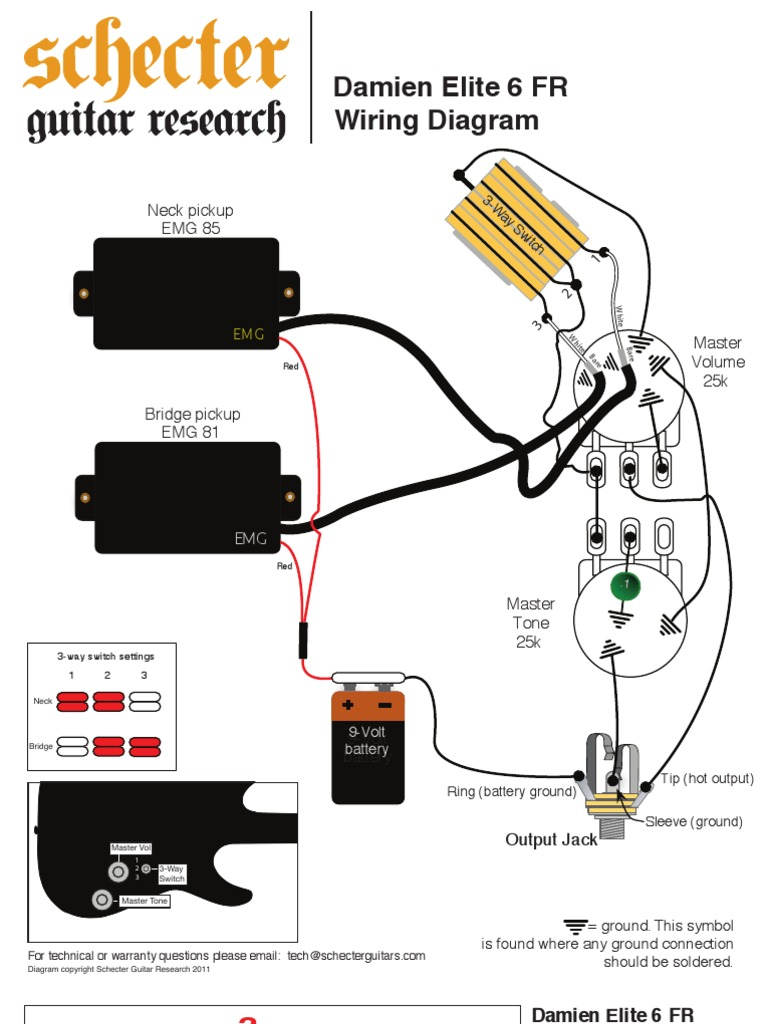 schecter guitars diamond series wiring diagram damien elite 6 fr wiring diagram  damien elite 6 fr wiring diagram