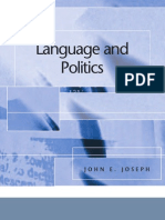 John E. Joseph Language and Politics Edinburgh Textbooks in Applied Linguistics 2007