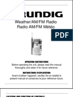 Grundig_G2 AM-FM Weather Radio_Manual