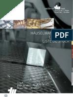 Lieferprogramm Liste de Stock Haeuselmann Metall 2010 Web