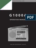 Grundig G1000A AM-FM-HF Reciever Manual