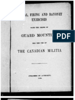 Manual, Firing, & Bayonet Exercises - Canadian Militia 1894