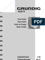 Grundig YB300 AM-FM-HF Reciever Manual