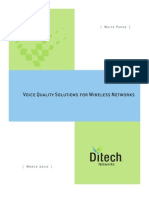 Voice Quality Solutions for Wireless Networks