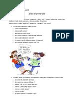 PRIMER DÍA DE CLASES pdf