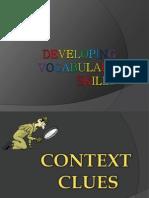 Developing Vocabulary Skills