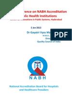 Hosp Accreditation by Dr Gayatri Direcotr Nabh