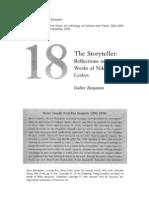 The Storyteller - Walter Benjamin